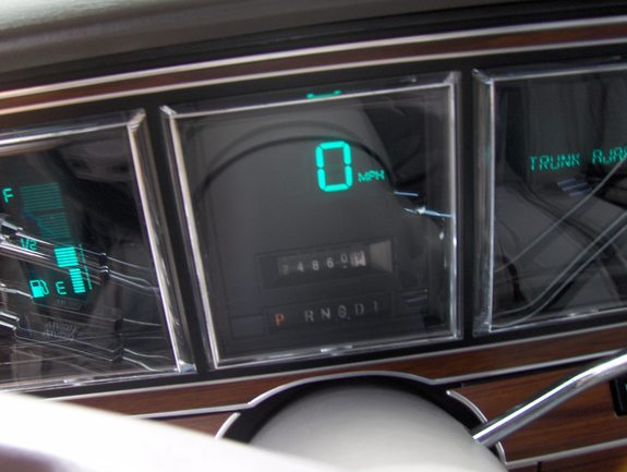 Lincoln Town Car (1981-1989). Note the side displays being different from the second generation.