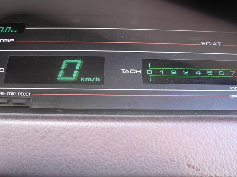 Mazda 929 (1986-1991). The speedo has a 3D effect with additional LEDs.