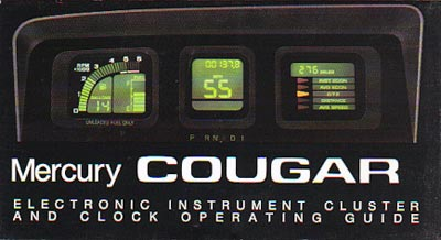 Cover of dash operating guide for Mercury Cougar (1987-1989)