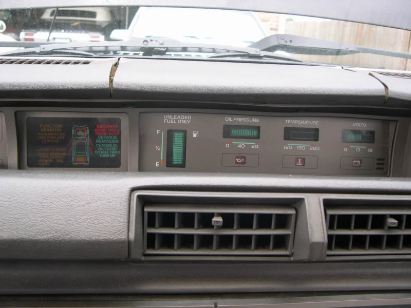 Pontiac 6000 (1983-1989). Side instruments.